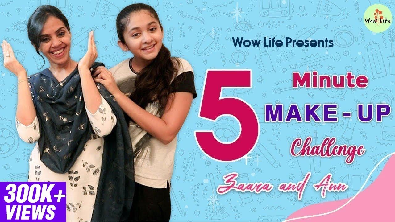 "Wow Life Presents ""5 Minute Makeup Challenge"" Ft. Zaara & Ann   #WowLife #Zaara #Archana"