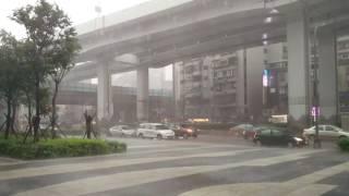 Tropical rain, thunder and lightning Taipei, Taiwan