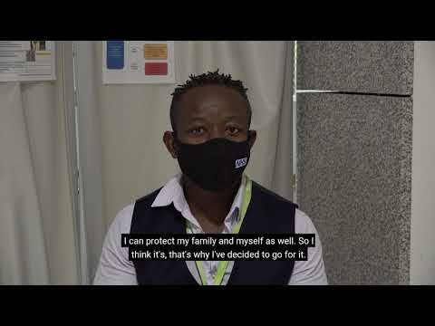 Urgent Care Centre worker talks about getting the vaccine