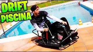 HACEMOS DRIFT EN EL BORDE DE LA PISCINA!! EPIC DRIFTING CARRERA EN LA PISCINA Makiman
