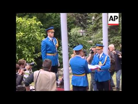 Flag-raising marks Serbia's takeover of army after Montenegro split from union