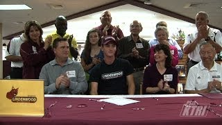 PSJA High School, Cameron MacDonald signed a letter of intent to play golf at Lindenwood University
