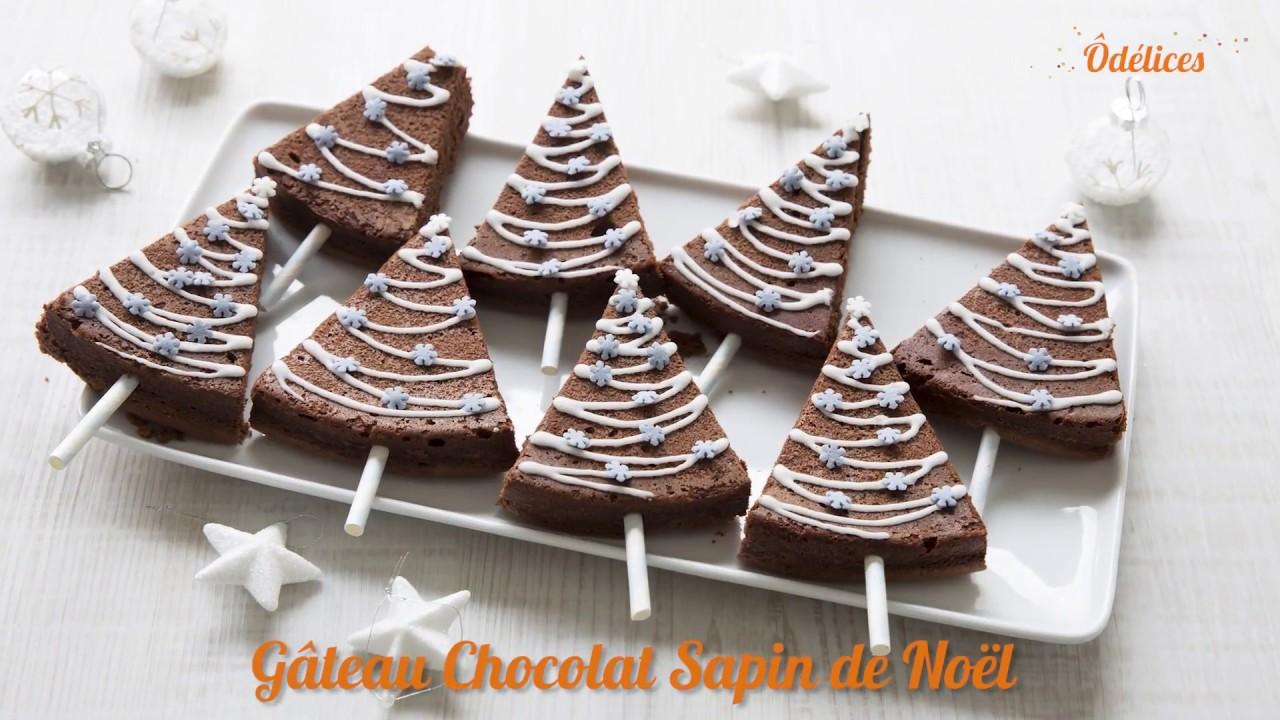 Gâteau sapin de Noël en chocolat , recettes faciles Odelices