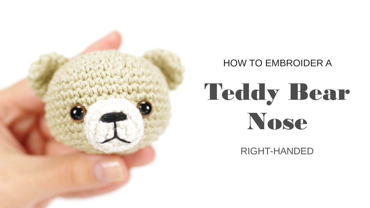 Embroidering teddy nose right handed kristi tullus youtube ccuart Image collections