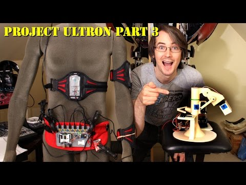 XRobots - Ultron Part 3, A REAL ROBOT - Controlling a Robot Arm from Motion Capture