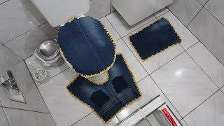 Faça Jogo de Tapete Com Calça Jeans – Sem Costura