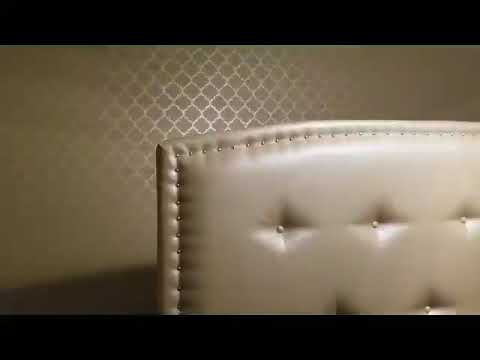 How to paint metallic accent wall with Stencil, DIY