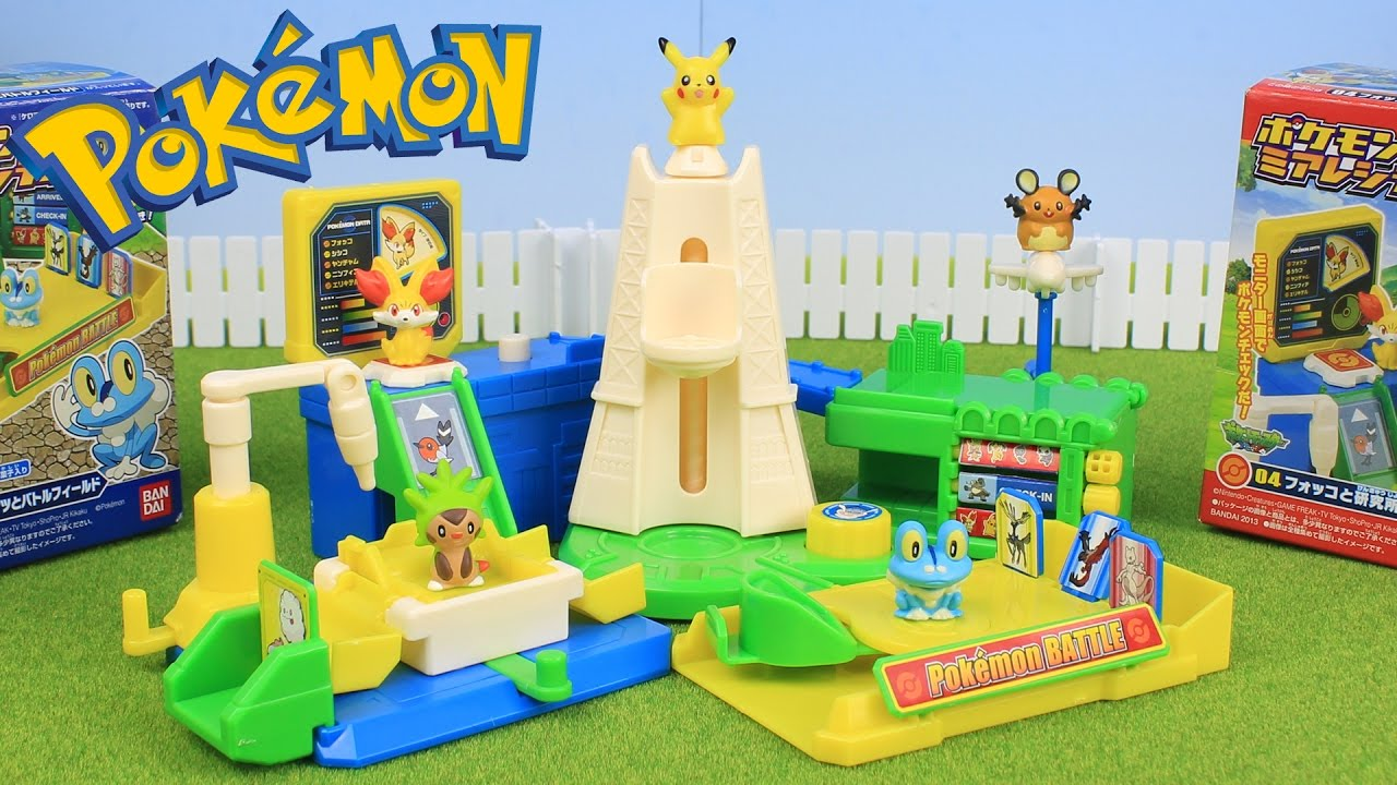 Pokemon Toys Right : Pokemon toys lumiose city packs unboxing opening youtube