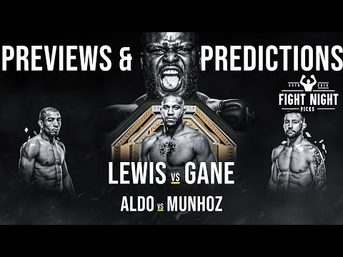 UFC 265: Lewis vs. Gane Full Card Previews & Predictions
