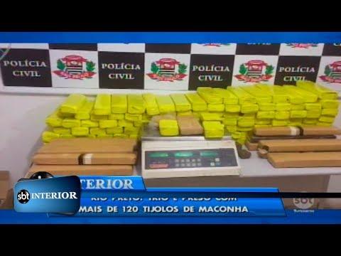 Rio Preto: trio é preso com mais de 120 tijolos de maconha