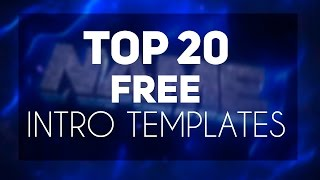 BEST NEW TOP 20 INTRO TEMPLATES #12 Cinema 4D , After Effects