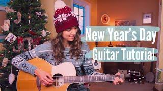 Video New Year's Day - Taylor Swift Guitar Tutorial // Picking & Strumming download MP3, 3GP, MP4, WEBM, AVI, FLV Januari 2018