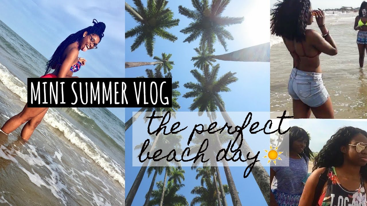 PERFECT BEACH DAY + MAC MAKEUP SHOPPING || SUMMER VLOG ...