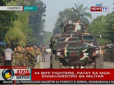 SONA: 44 BIFF fighters, patay sa mga engkuwentro sa militar