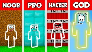 Minecraft - NOOB vs PRO vs HACKER vs GOD : INVISIBLE CHALLENGE in Minecraft Animation