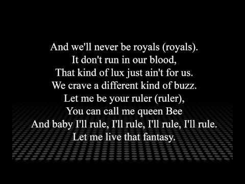 Lorde Royals Lirik Lagu