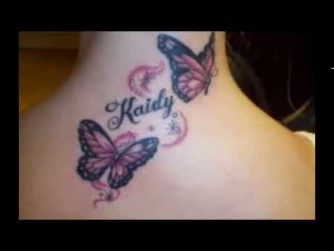Butterfly Infinity Tattoo Designs