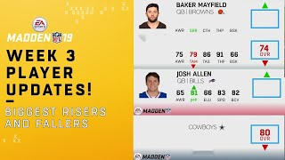Madden 19 Week 3 Player Updates: Rookies on the Rise! | NFL thumbnail