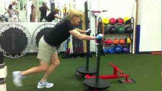 74yr Old Woman Does Perfect Prowler Sled Push