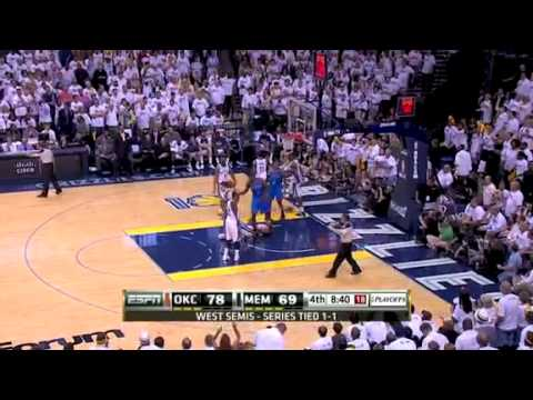 NBA Playoffs 2011: OKC Thunder Vs Memphis Grizzlies Game 3 Highlights (1-2)