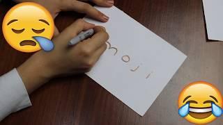 Kelimelerden Resim Çizme Challenge! | 2.Bölüm | Emoji ve Manzara Resmi Kolay Çizim | Bidünya Oyuncak