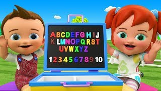 Little Baby Boy & Girl Fun Learning Alphabets and Numbers with Alphabet Suitcase Toys for 3D Kids
