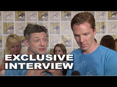 """The Hobbit: Andy Serkis """"Gollum"""" & Benedict Cumberbatch ..."""