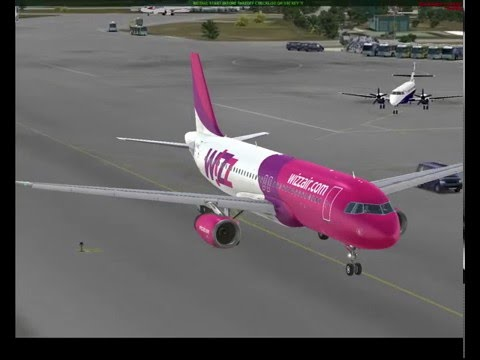 FSX A320 Wizz Air Full Flight to Thessaloniki