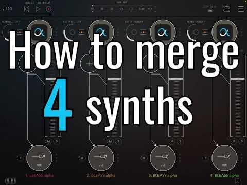 BLEASS Granulizer tutorial: how to merge audio signals via Multi-Bus (AUM / apeMatrix)