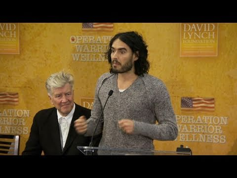 Russell Brand talks about Transcendental Meditation at Operation Warrior Wellness launch