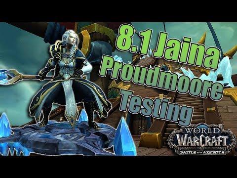 BFA - 8.1 Battle of Dazal'alor Jaina Proudmoore Raid Testing with Thoughts! Warlock POV!