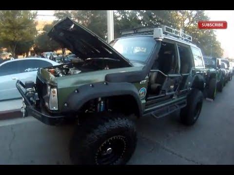 Jeep Cherokee XJ with LS1 V8 : SEMA Las Vegas - YouTube