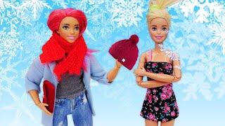 Шоппинг с Барби Зимняя одежда для кукол Мультики для девочек