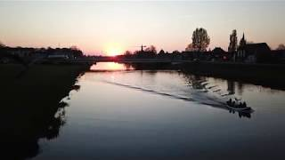 Sunset bij de Overijsselse Vechtbrug in Ommen 21-04-19