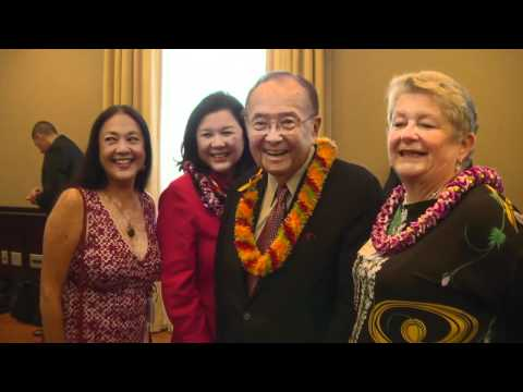 Hawaii Congressional team honors UH Folklife delegates