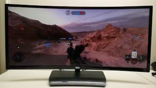 AOC C3583FQ Review - 35in, curved, 160Hz, gaming monitor