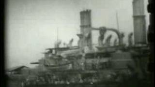 Historic Footage- US Battle ships/Admiral Dewey -Part 1 of 2