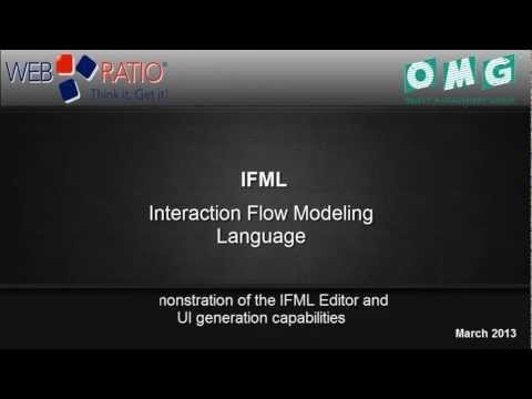 IFML - The Interaction Flow Modeling Language - Demo of IFML Editor