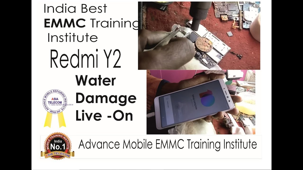 Redmi Y2 Water Damage (No Shorting ) Dead Mobile Live - Replace EMMC 64gb &  Reball Power IC 🔥💦💧