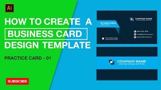 Comment Créer un modèle de carte de visite dans Adobe Illustrator CC | Pratique de la classe #01