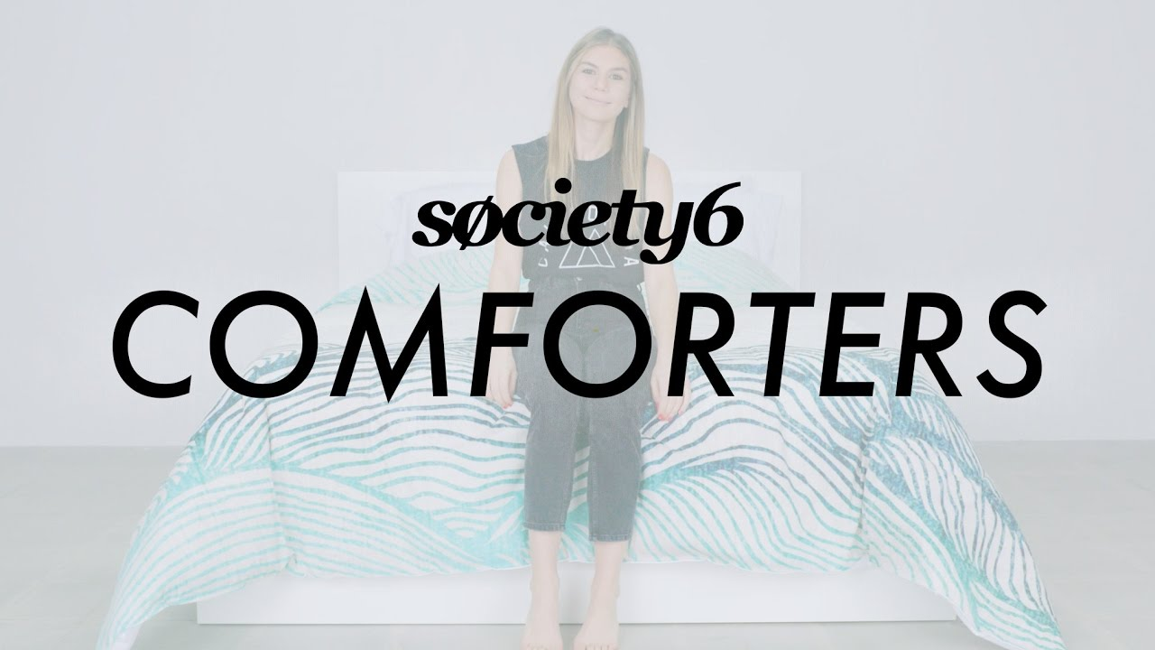 comforters from society6 product demo youtube