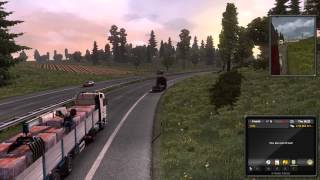 Euro Truck Simulator 2 [PC] Gameplay: Running Out of Fuel