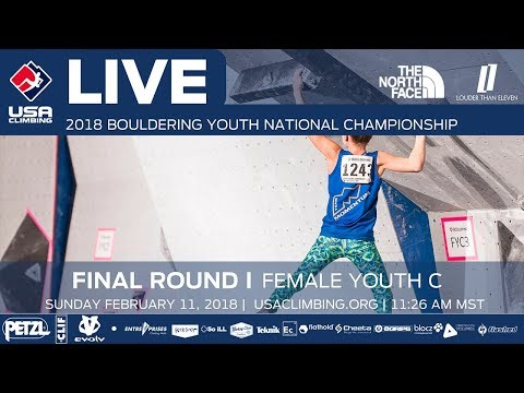 Female Youth C • Finals • 2018 Youth Bouldering Nationals • 2/11/18 11:26 AM