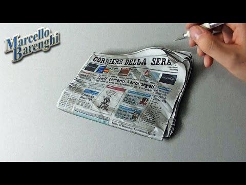 """How to draw the """"Corriere della Sera"""" newspaper"""