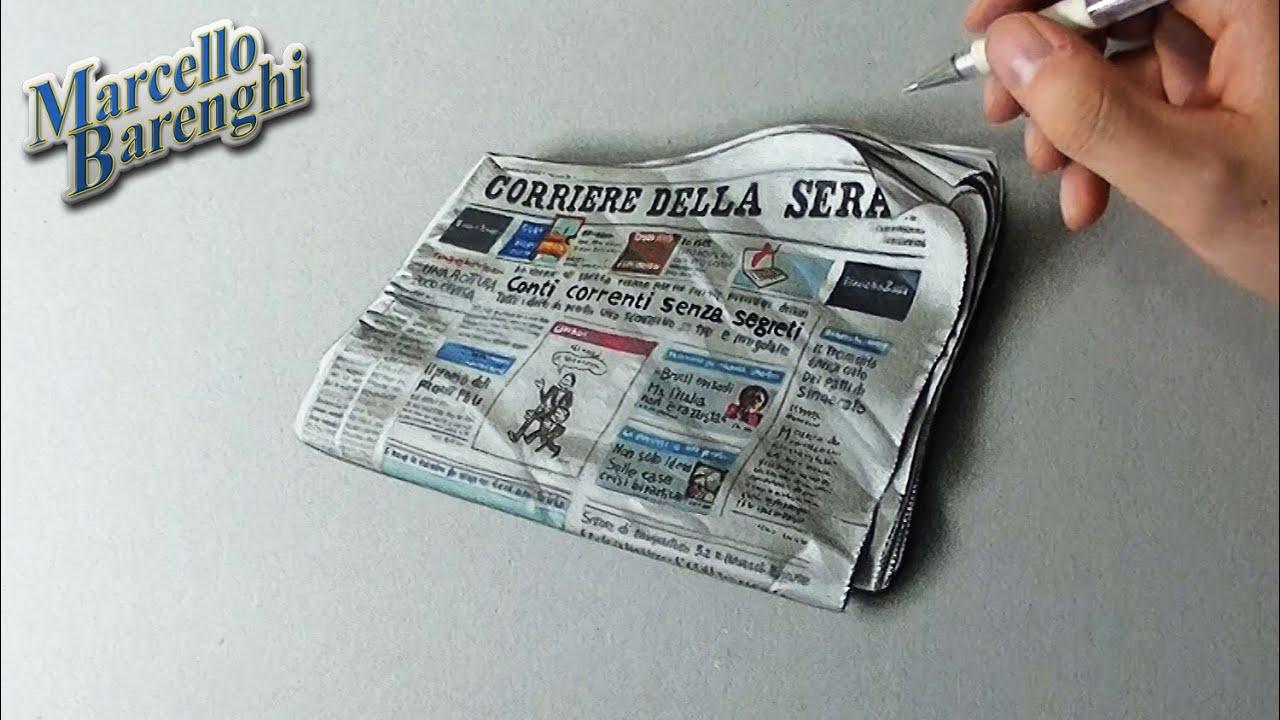 How To Draw The Corriere Della Sera Newspaper Youtube
