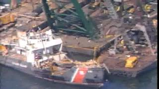 USCGC Blackthorn is raised from Tampa Bay shipping channel