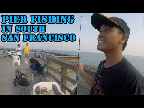 Pier Fishing in South San Francisco! Bay Area Day 3 (GoPro)