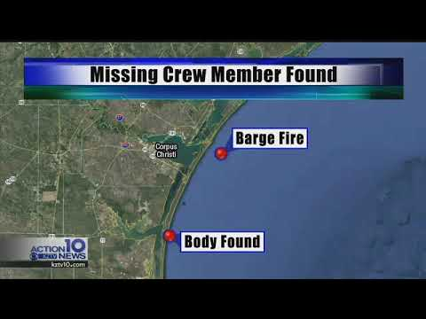 Body found identified as missing crew member in barge explosion