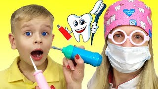 Dentist Song Different Version   Canciones Infantiles con Dima Family Show