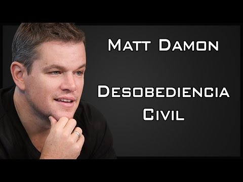 Matt Damon - Desobediencia Civil (Discurso de Howard Zinn) [Sub Esp]